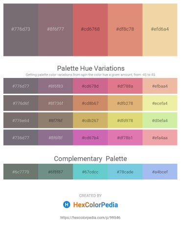 Palette image download - Dim Gray – Gray – Indian Red – Dark Salmon – Pale Goldenrod