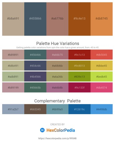 Palette image download - Rosy Brown – Dark Slate Gray – Rosy Brown – Saddle Brown – Peru