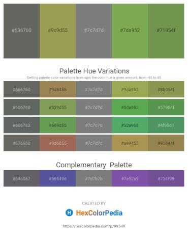 Palette image download - Dim Gray – Dark Khaki – Slate Gray – Dark Khaki – Dark Olive Green