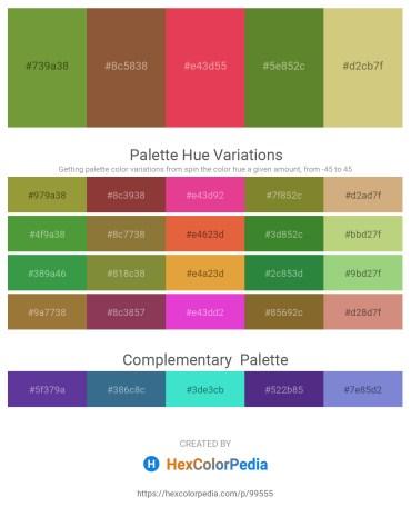 Palette image download - Olive Drab – Sienna – Crimson – Olive Drab – Tan