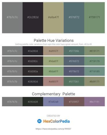 Palette image download - Slate Gray – Dark Sea Green – Dark Sea Green – Slate Gray – Dark Sea Green