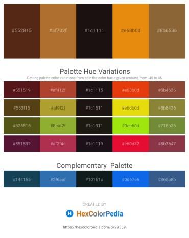 Palette image download - Saddle Brown – Sienna – Black – Dark Orange – Sienna