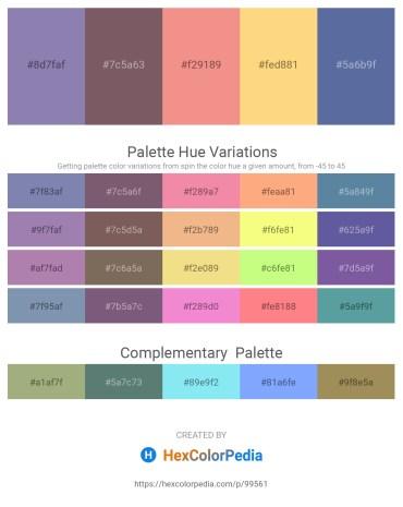 Palette image download - Light Slate Gray – Dim Gray – Light Coral – Navajo White – Slate Gray