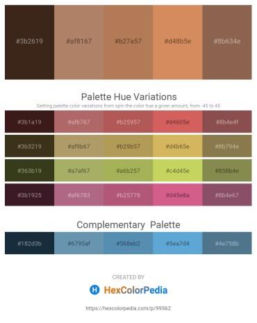 Palette image download - Dark Slate Blue – Rosy Brown – Indian Red – Peru – Medium Slate Blue