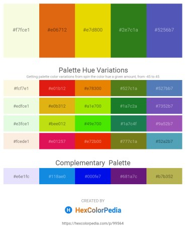 Palette image download - Light Goldenrod Yellow – Chocolate – Gold – Forest Green – Steel Blue