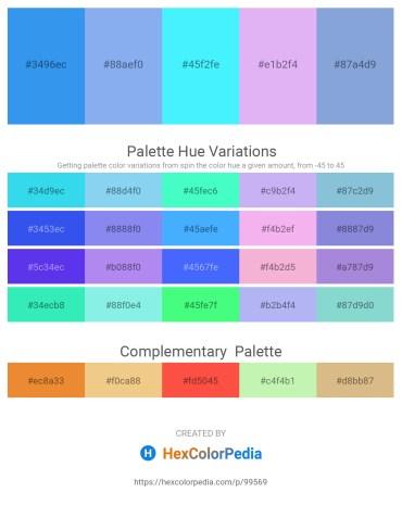 Palette image download - Cornflower Blue – Sky Blue – Aqua – Lavender – Light Steel Blue