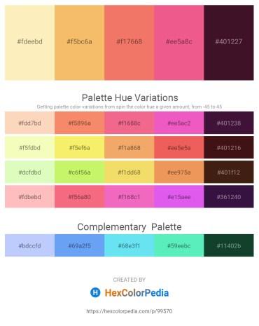 Palette image download - Moccasin – Sandy Brown – Light Coral – Light Coral – Midnight Blue