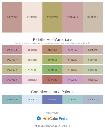 Palette image download - Rosy Brown – Beige – Dark Khaki – Rosy Brown – Rosy Brown