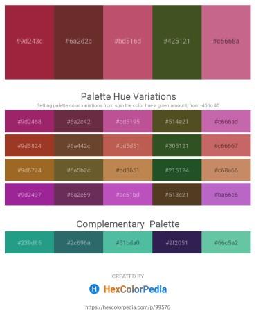 Palette image download - Brown – Sienna – Indian Red – Dark Olive Green – Indian Red