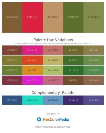 Palette image download - Sienna – Crimson – Dark Khaki – Dark Olive Green – Dark Olive Green