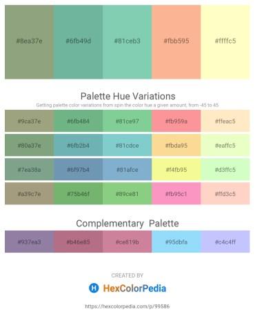 Palette image download - Dark Sea Green – Cadet Blue – Medium Aquamarine – Light Salmon – Lemon Chiffon
