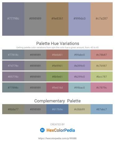Palette image download - Slate Gray – Gray – Rosy Brown – Light Slate Gray – Tan