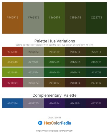 Palette image download - Saddle Brown – Gray – Dark Olive Green – Dark Olive Green – Dark Olive Green