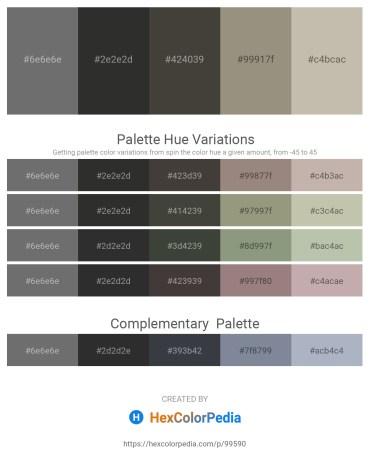 Palette image download - Dim Gray – Black – Dim Gray – Gray – Silver
