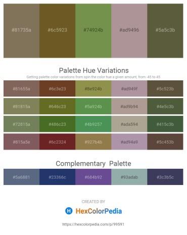 Palette image download - Dim Gray – Dark Olive Green – Dark Olive Green – Rosy Brown – Dark Olive Green