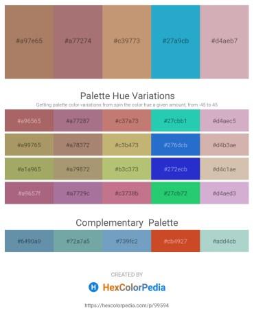 Palette image download - Rosy Brown – Rosy Brown – Dark Khaki – Light Sea Green – Thistle