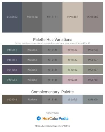 Palette image download - Dark Slate Gray – Dim Gray – Gray – Silver – Gray