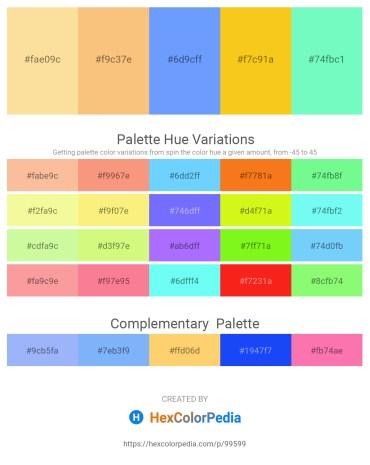 Palette image download - Navajo White – Light Salmon – Light Sky Blue – Gold – Aquamarine