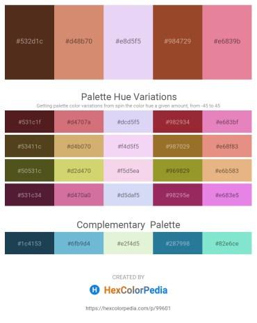 Palette image download - Saddle Brown – Indian Red – Lavender – Sienna – Pale Violet Red