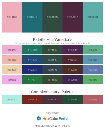 Palette image download - Sandy Brown – Hot Pink – Dark Slate Gray – Indian Red – Cadet Blue