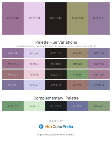 Palette image download - Rosy Brown – Lavender – Black – Dark Khaki – Light Slate Gray