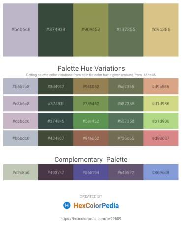 Palette image download - Light Steel Blue – Dark Slate Gray – Dark Khaki – Dark Olive Green – Burlywood