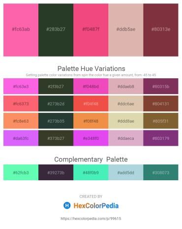 Palette image download - Hot Pink – Dark Slate Gray – Light Coral – Tan – Brown