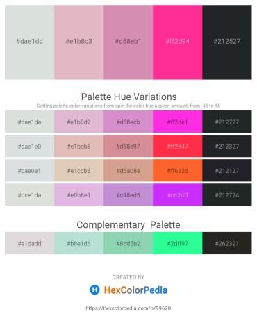 Palette image download - Light Steel Blue – Plum – Plum – Deep Pink – Dark Slate Gray