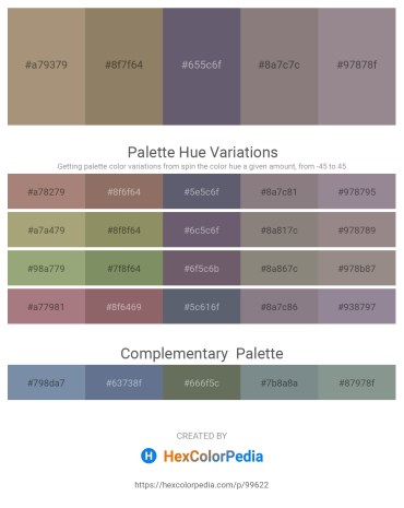 Palette image download - Rosy Brown – Gray – Slate Gray – Gray – Gray