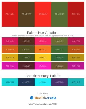 Palette image download - Crimson – Deep Pink – Orange Red – Dark Olive Green – Firebrick