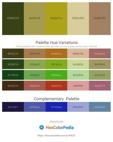 Palette image download - Dark Olive Green – Dark Khaki – Goldenrod – Tan – Rosy Brown