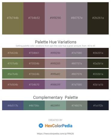 Palette image download - Dark Olive Green – Dim Gray – Rosy Brown – Gray – Dark Olive Green