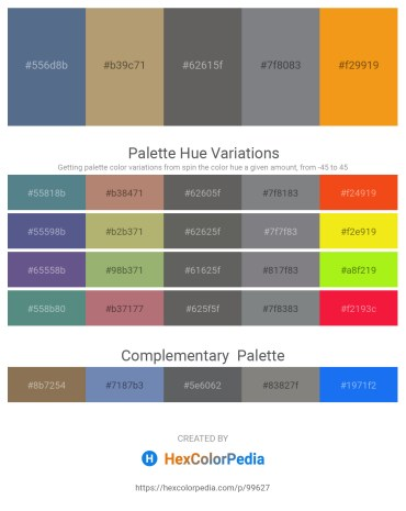 Palette image download - Slate Gray – Dark Khaki – Dim Gray – Slate Gray – Orange
