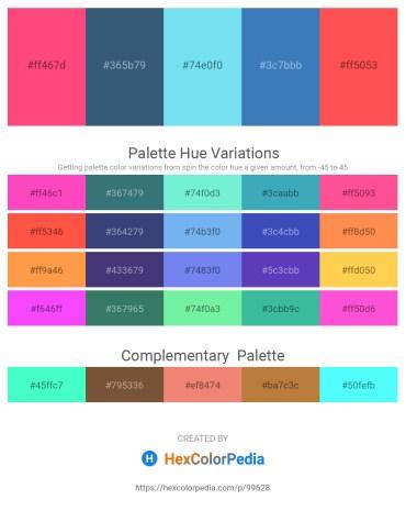 Palette image download - Tomato – Dark Slate Blue – Sky Blue – Steel Blue – Tomato