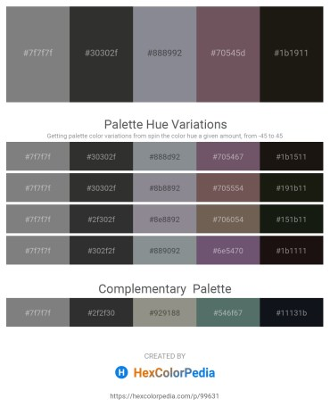 Palette image download - Gray – Black – Light Slate Gray – Dim Gray – Black