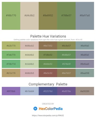 Palette image download - Dark Khaki – Tan – Dark Khaki – Dark Olive Green – Light Slate Gray