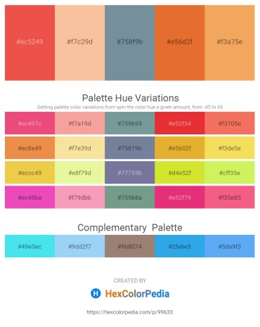 Palette image download - Tomato – Wheat – Light Slate Gray – Chocolate – Sandy Brown