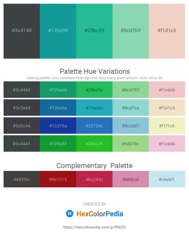 Palette image download - Dark Slate Gray – Light Sea Green – Light Sea Green – Medium Aquamarine – Linen
