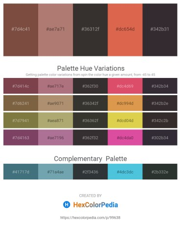 Palette image download - Sienna – Rosy Brown – Black – Peru – Black