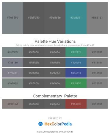 Palette image download - Slate Gray – Dim Gray – Dim Gray – Steel Blue – Gray