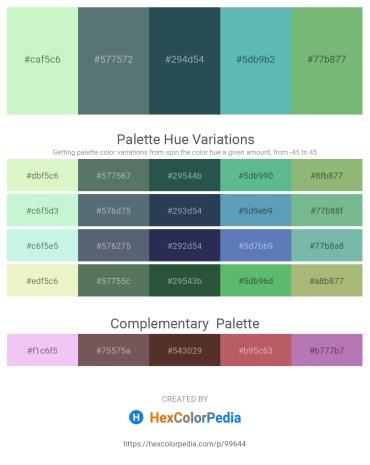Palette image download - Pale Goldenrod – Slate Gray – Dark Slate Gray – Medium Aquamarine – Dark Sea Green