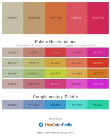Palette image download - Dark Khaki – Dark Khaki – Peru – Indian Red – Crimson