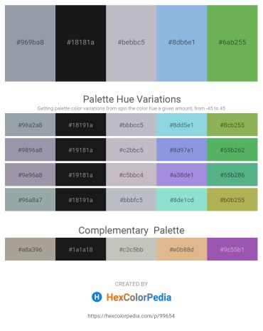 Palette image download - Light Slate Gray – Goldenrod – Light Steel Blue – Sky Blue – Medium Sea Green