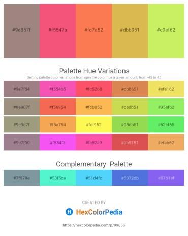 Palette image download - Gray – Salmon – Coral – Peru – Khaki