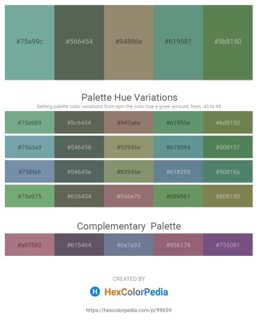 Palette image download - Cadet Blue – Dark Slate Gray – Gray – Cadet Blue – Dark Olive Green