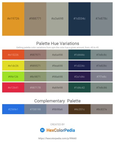 Palette image download - Goldenrod – Gray – Dark Gray – Dark Slate Gray – Slate Gray