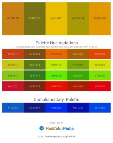 Palette image download - Dark Goldenrod – Brown – Orange – Dark Goldenrod – Orange