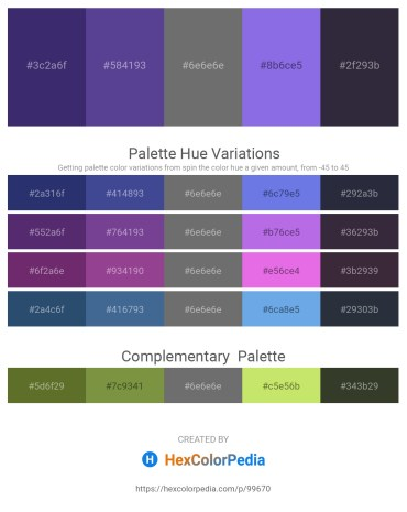 Palette image download - Dark Slate Blue – Dark Slate Blue – Dim Gray – Medium Purple – Dark Olive Green
