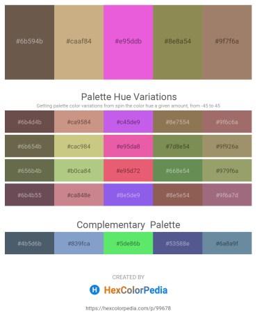 Palette image download - Dim Gray – Tan – Violet – Dark Khaki – Rosy Brown