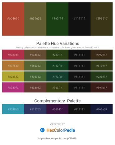 Palette image download - Sienna – Dark Olive Green – Chocolate – Black – Dark Sea Green